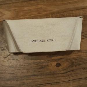 Michael Kors White Eyeglasses Carrying Case.
